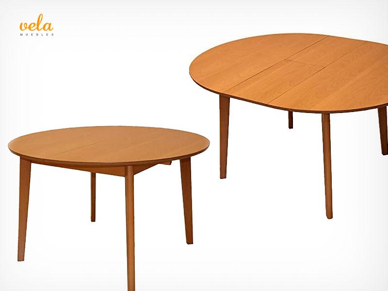 mesa redonda extensible barata