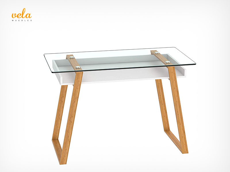 Consola escritorio cristal